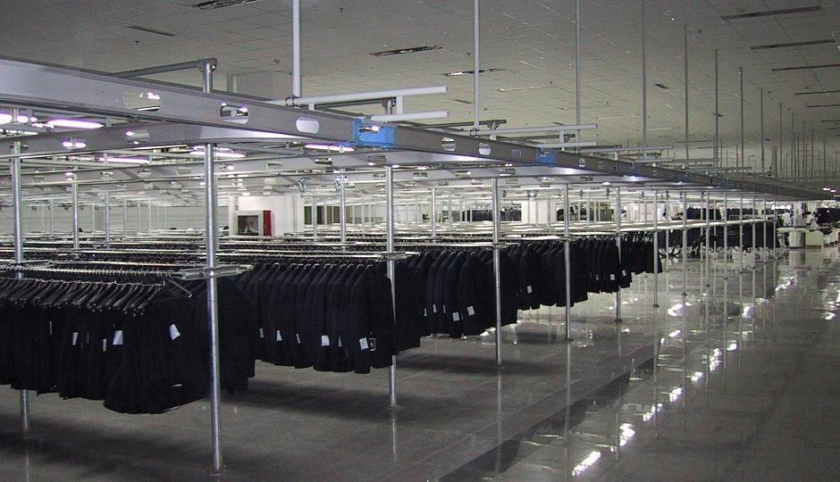 Подвесной монорельсовый конвейер транспортер упаковок