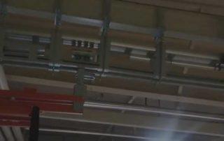 Ceiling mounted conveyor