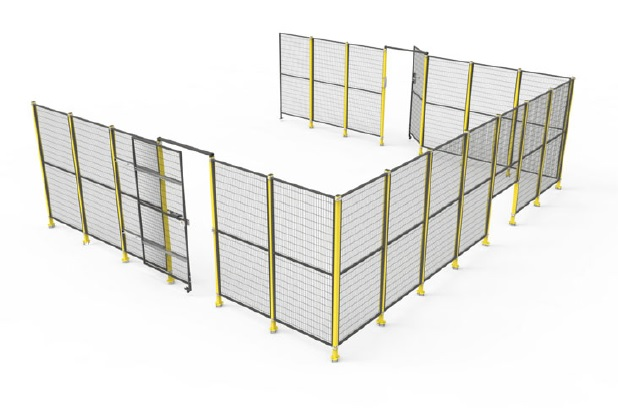 machine guarding wire mesh fencing modular barriers