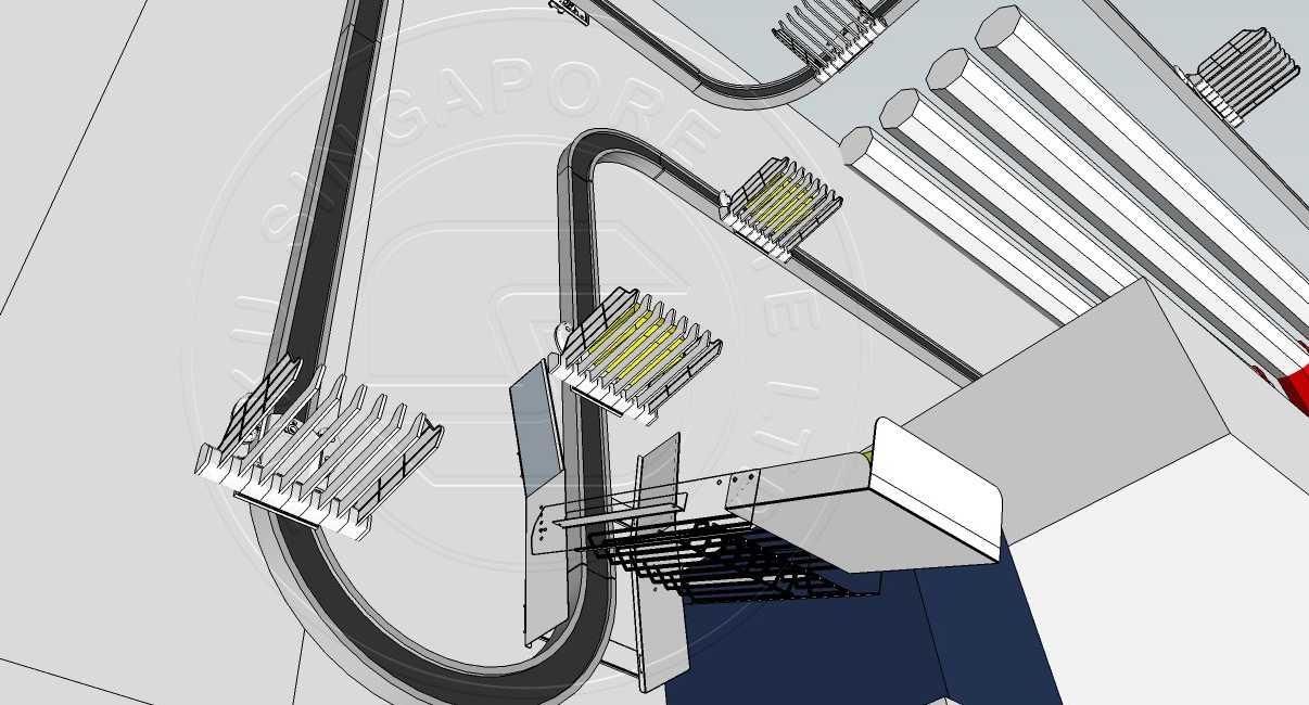suspended kitchen conveyor