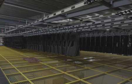 Overhead Conveyor For Automotive Bumpers And Door Panels