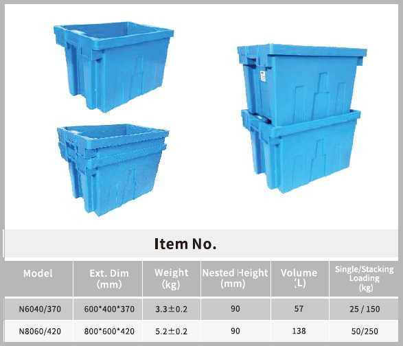 180° STACKING NEST CONTAINERS blue