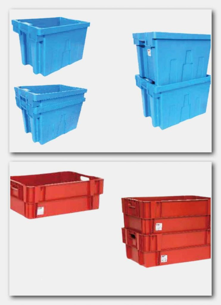 180 degree Stack nest containers