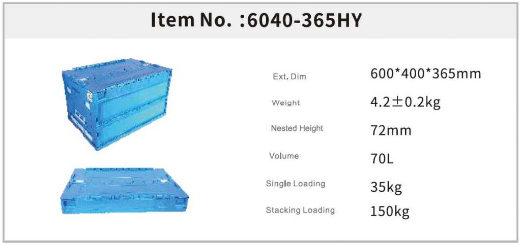 FOLDABLE CONTAINERS size