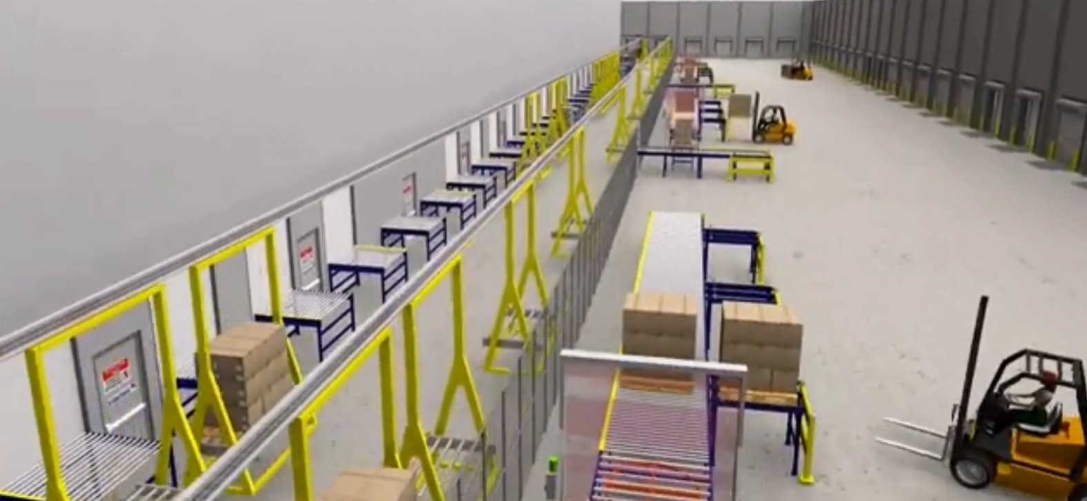 Overhead Conveyors for Inbound and Outbound Processing