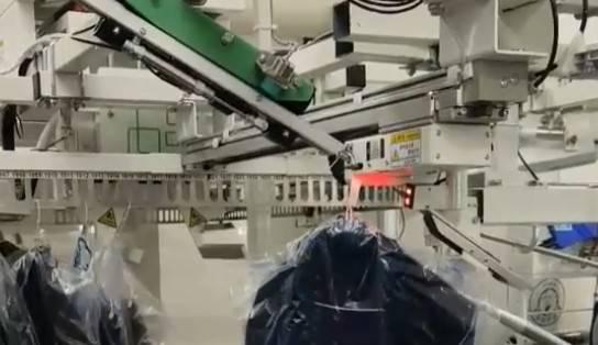 garment storage AMR AGV robot single pick loading