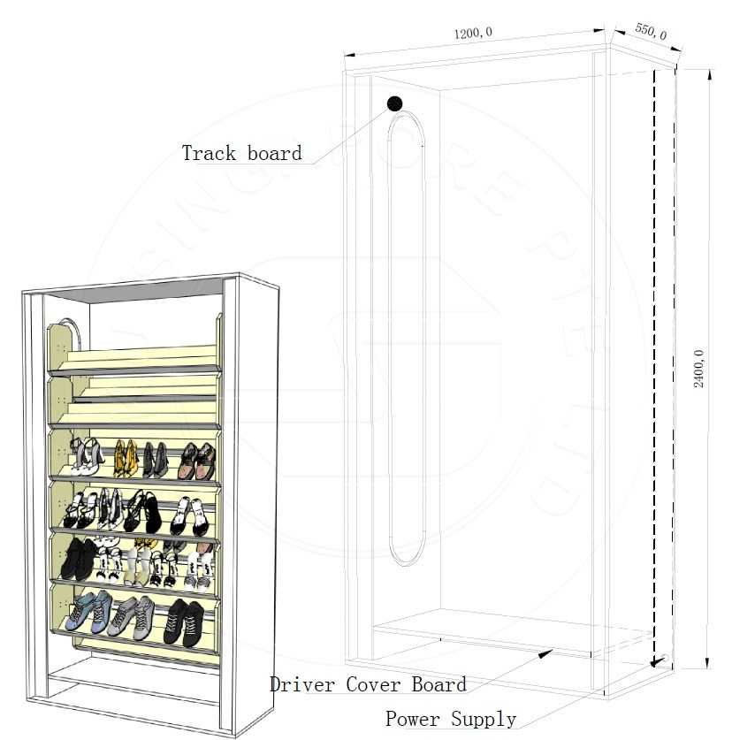 automated rotating vertical shoes storage carousel rack